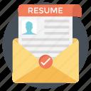 job agreement, job application, cv, curriculum vitae, resume icon