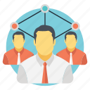 creative ideas, expert people, human resources, team abilities, team skills icon