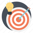 business strategy, business target, team mission, team target, team's goal icon