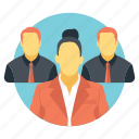 business group, business people, company, organization, team members icon