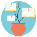 concept of learning, educational concept, knowledge growth, tree concept, tree of knowledge icon