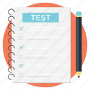 assessment, examination, quiz, testing, trial icon