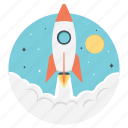 business growth, business launch, business startup, new business, project launch icon
