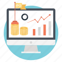 finance business, initial public offering, investment and strategy, ipo concept, stock market launch icon