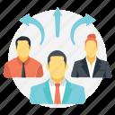 business intelligence, corporate business, market research, quantitative management, risk assessment icon