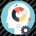 cognitive psychology, human behavior, intelligence, labyrinth of brain, mental health concept icon