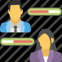 customer responsive progress bar, employee improvement, employees evaluation, key performance indicator, work performance
