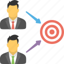 business goal, business target, financial goal, sales target, target market icon