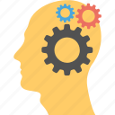 creative brain, creative thinking, headgear, intelligent management, thinking, thinking process icon