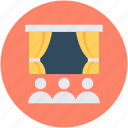 conference hall, movie hall, presentation, theater, viewing room icon