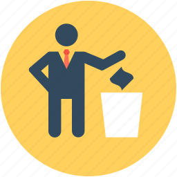 dustbin, garbage can, recycle bin, rubbish, trash bin icon