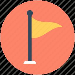 destination flag, ensign, flag, location flag, table flag icon