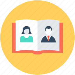 album book, book, diary, employee book, image album icon