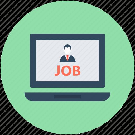 human resource, job post, job search, job seeking, online job icon
