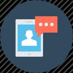 chat bubble, comments, mobile chat, speech bubble, talk icon