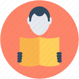 education, learner, reader, student, studying icon