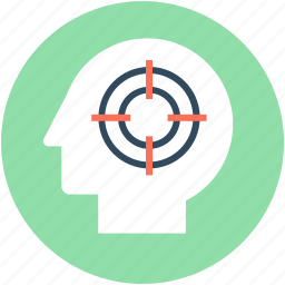 aim, mind, mind target, purpose, target icon