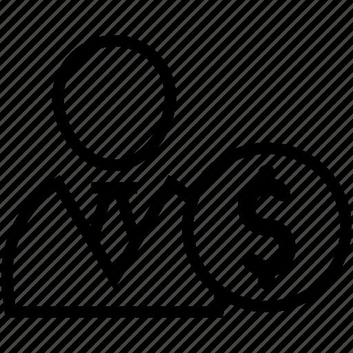 Accountant, businessman, businessperson, financier, investor icon - Download on Iconfinder
