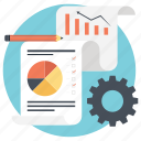 business report, financial planning, financial report, report, statistics icon