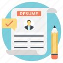 add resume, create a resume, post resume, update resume, upload resume icon