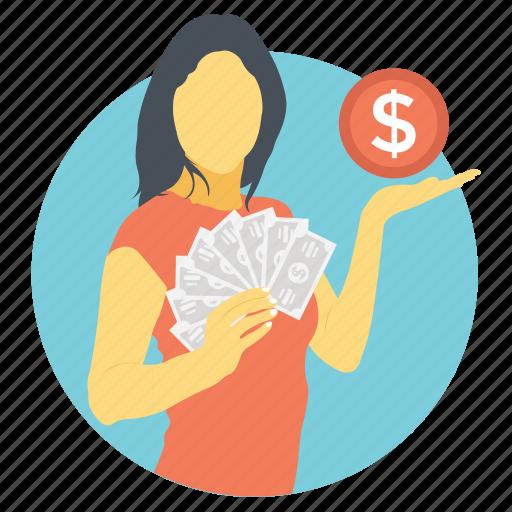 earnings, income, make money, profit, salary icon