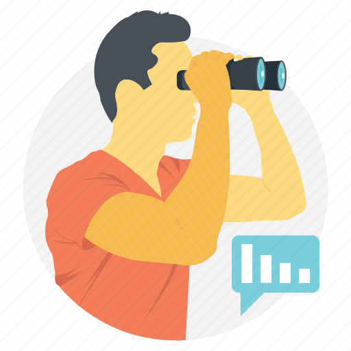 business analysis, business observation, business research, marketing analysis, marketing survey icon