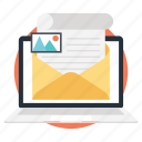 electronic mail, emailing, internet mail, mailing, online correspondence icon