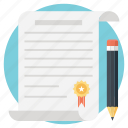 agreement, certificate, contract, deed, legal document icon