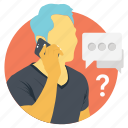 business communication, business dialog, business discussion, business meeting, businessman calling phone icon