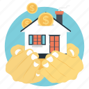 financial planning, home financing, home loan, investment project, mortgage concept icon