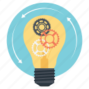 creative light bulb, creative process, idea generation, idea generation process, new product icon