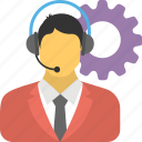 customer center, customer support, helpline, helpline services, telephone service icon
