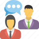 business conversation, business meeting, chat, communication, convention icon