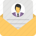 appointment letter, business email, employee referral, job referral letter, professional email icon