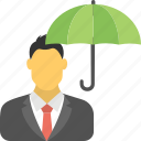business insurance, business liability, insurance agent, insurance protection, umbrella coverage icon