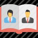 company policy manual, employee handbook, employee manual, human resource, staff handbook icon