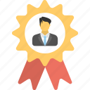 best seller badge, business winning, businessman achievement, employee award, employee of the month badge