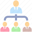chart, hierarchy, human, management, optimization, organization, resources icon