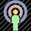 focus, human, man, people, target, user icon