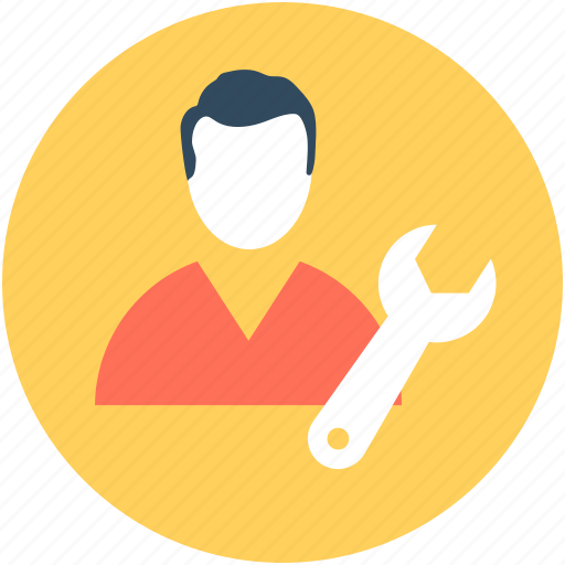 mechanic, repair man, service, serviceman, settings icon