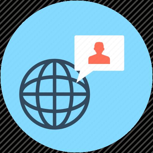 global services, international businessman, internet user, user, worldwide icon
