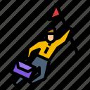 business, career, flag, goal, success icon