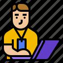 avatar, business, employee, man, team icon