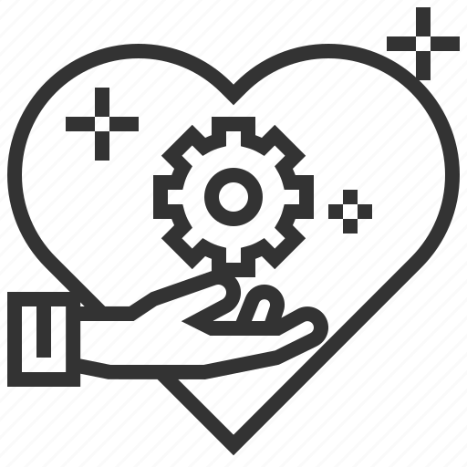 business, heart, human, management, marketing, morale, resources icon
