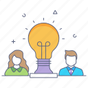 team abilities, team intelligence, team potential, employee ideas, employee potential icon