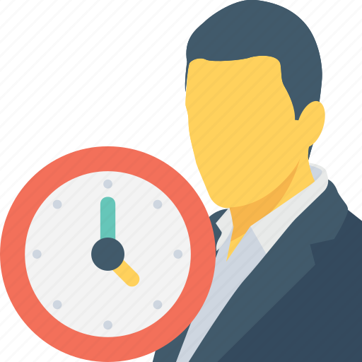 appointment, clock, man, punctual, time icon