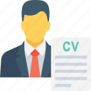 application, cv, job, profile, resume icon