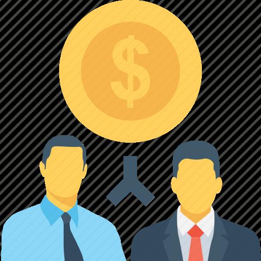 accountant, dollar, financier, investors, team icon