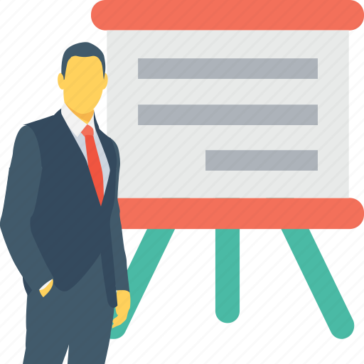 business, lecture, meeting, presentation, training icon