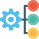 cog, gear, hierarchy, management, productivity icon